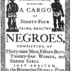 Affiche de vente d'esclaves