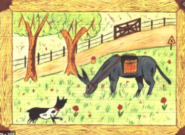 L ane et la chien