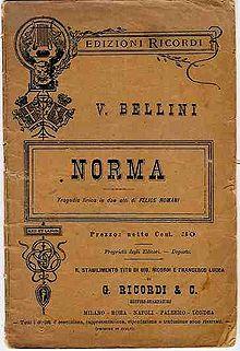 Norma libretto 1891