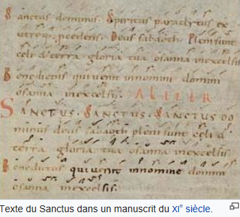Sanctus manuscrit